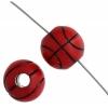 Acrylic Sports Bead Basketball 12x12mm